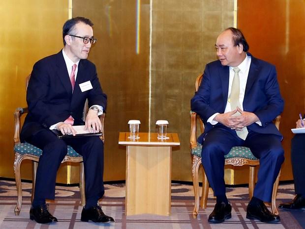 阮春福总理与日本领先集团领导举行座谈会 hinh anh 3
