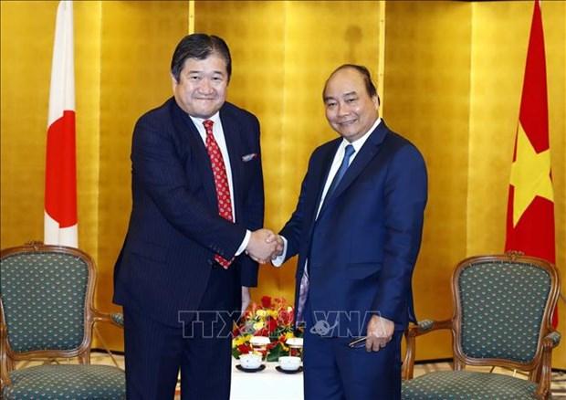 政府总理阮春福会见在越投资兴业的日本企业领导 hinh anh 1