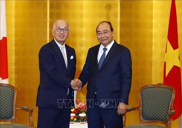 政府总理阮春福会见在越投资兴业的日本企业领导 hinh anh 3