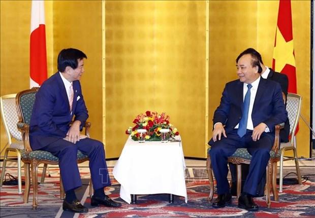 越南政府总理会见日本部分地方政府领导 hinh anh 1