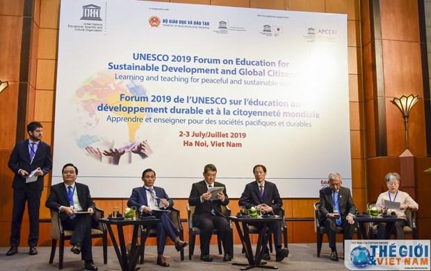 联合国教科文组织可持续发展教育和全球公民教育论坛在河内开幕 hinh anh 1
