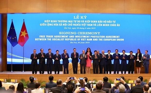 《越南 - 欧盟自由贸易协定》:促进东盟与欧盟的合作 hinh anh 1