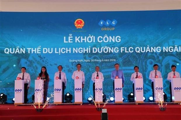 广义省FLC度假旅游项目正式动工兴建 hinh anh 1