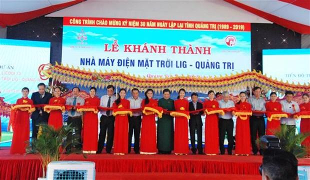 LIG广治太阳能发电厂竣工并投入运营 hinh anh 1
