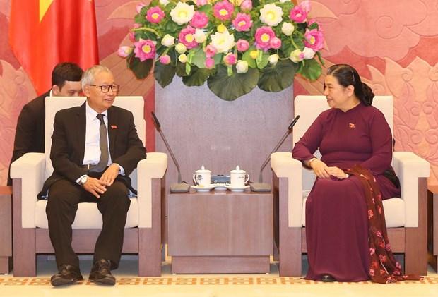 缅甸全国民主联盟高级代表团访问越南 hinh anh 1
