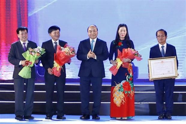 阮春福出席广义省重设30周年庆典 hinh anh 2