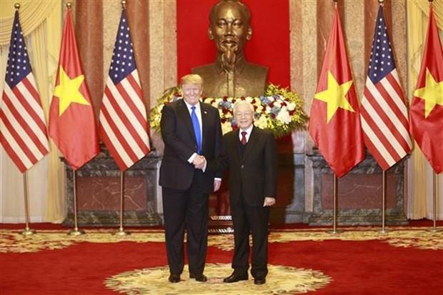 阮富仲就美国国庆243周年向美国总统特朗普致贺电 hinh anh 1