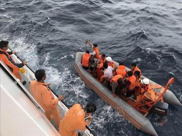 中国协助越南搜救海上遇险的越南渔船 hinh anh 1