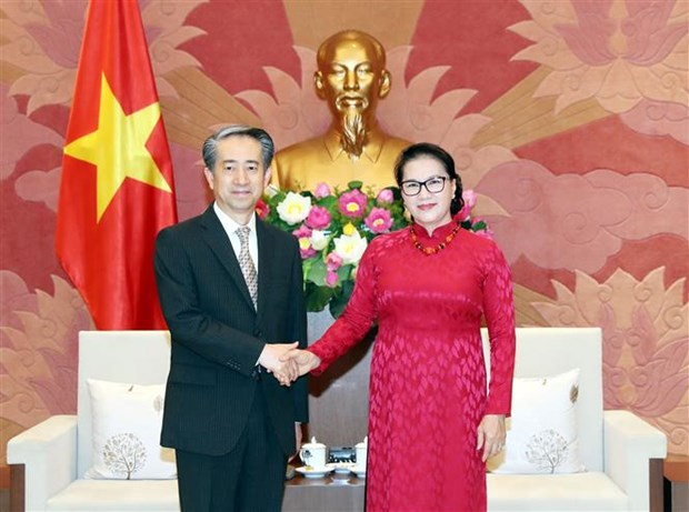 越南国会主席阮氏金银会见中国驻越大使熊波 hinh anh 1