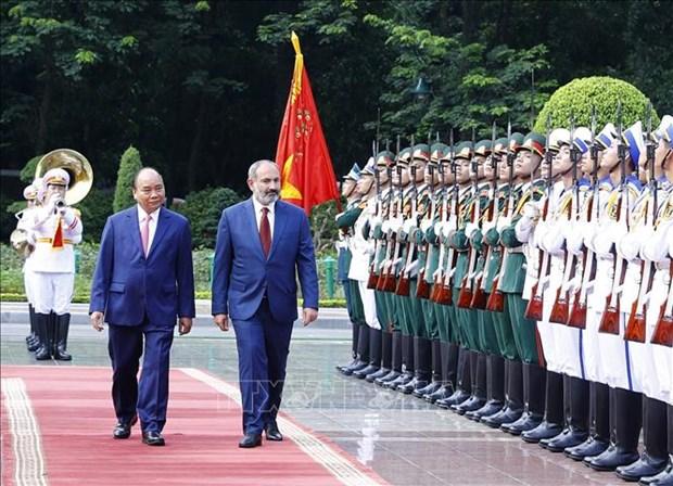 政府总理阮春福与亚美尼亚总理帕希尼扬举行会谈 hinh anh 1