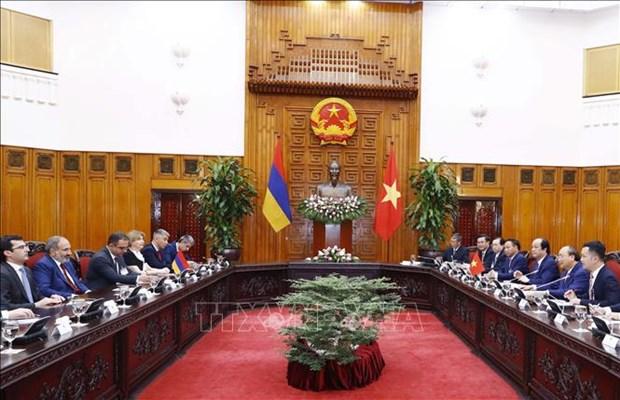 政府总理阮春福与亚美尼亚总理帕希尼扬举行会谈 hinh anh 2
