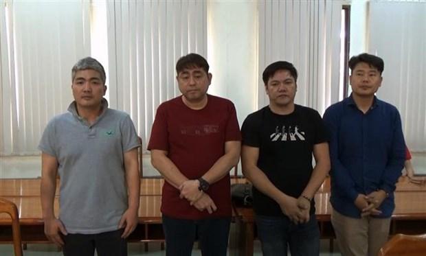 胡志明市警方破获由韩国人开设赌场案件 hinh anh 1