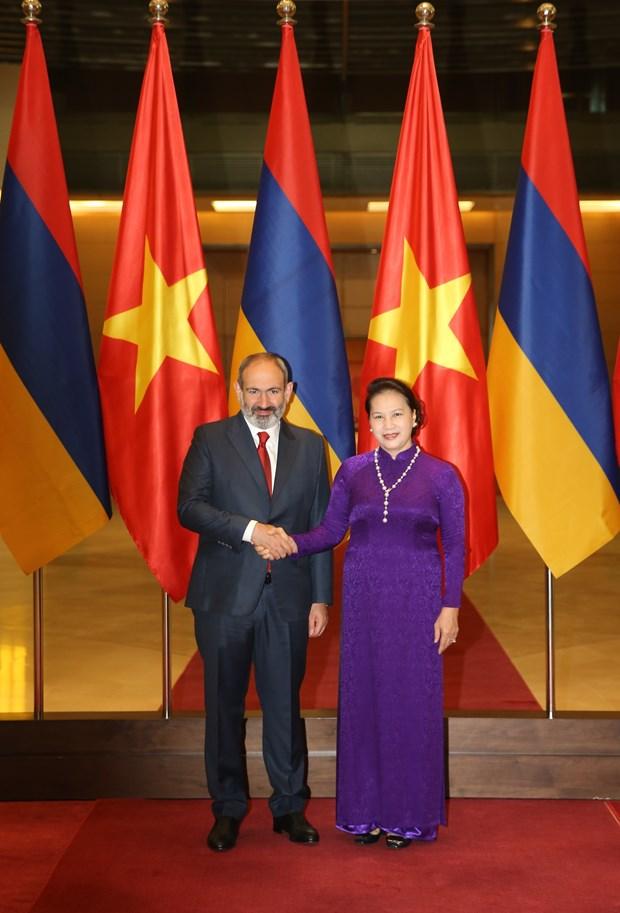 越南国会主席阮氏金银会见亚美尼亚总理帕希尼扬 hinh anh 1