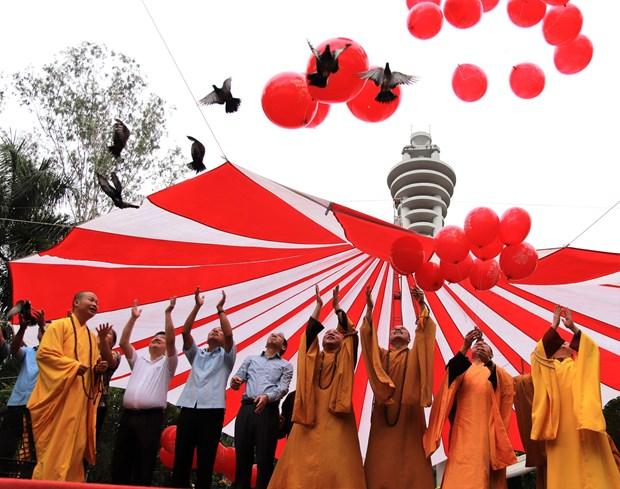越南佛教协会在河江省为英雄烈士举行超度法会 hinh anh 2