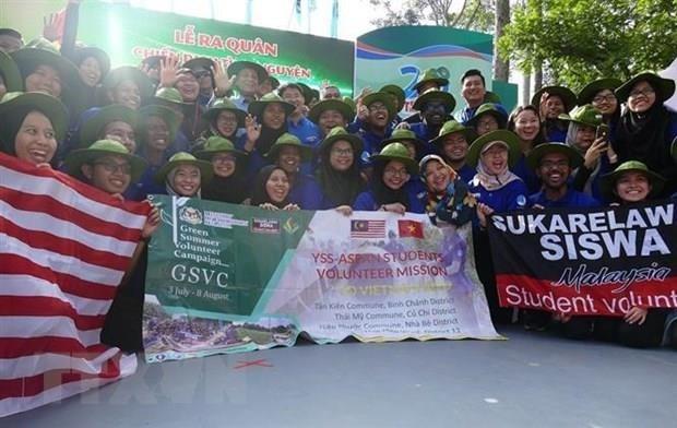 """62名马来西亚大学生参加越南""""蓝色夏季""""志愿者活动 hinh anh 1"""