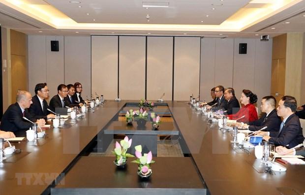 越南国会主席阮氏金银会见中国企业代表 hinh anh 1