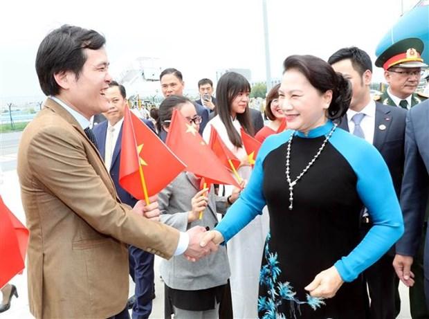 越南国会主席阮氏金银抵达江苏 开始对中国进行正式访问 hinh anh 1