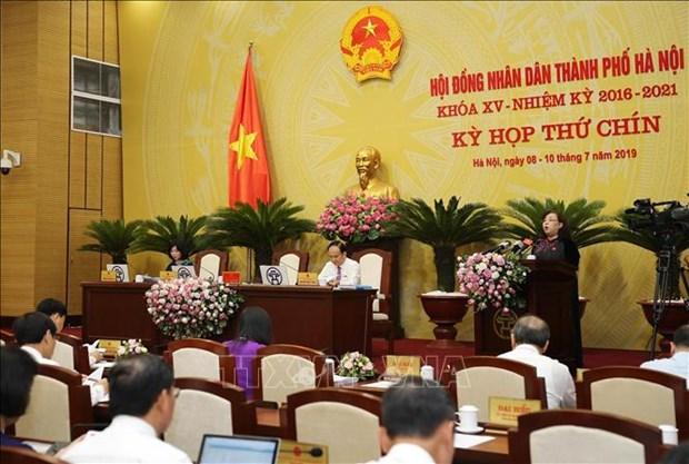 越南河内市第十五届人民议会第九次会议召开 hinh anh 1