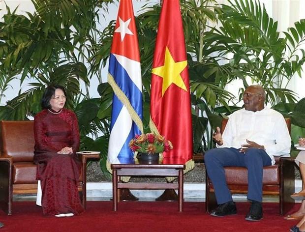 越南国家副主席邓氏玉盛对古巴进行正式访问 hinh anh 1