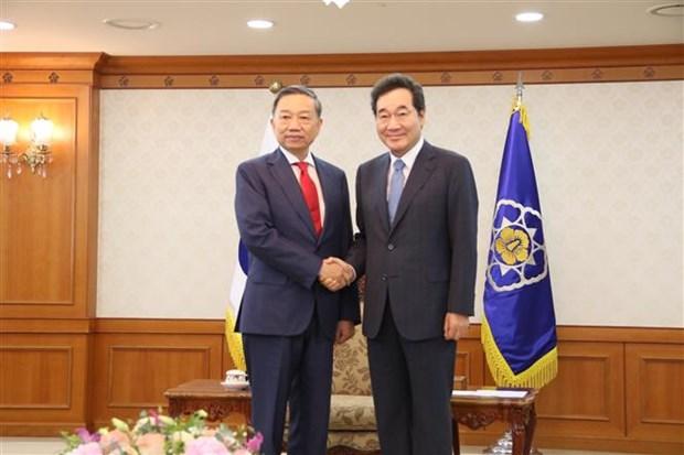 越南公安部与韩国警察局同意加强合作 打击毒品犯罪 hinh anh 2