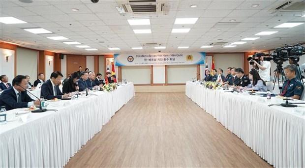越南公安部与韩国警察局同意加强合作 打击毒品犯罪 hinh anh 1