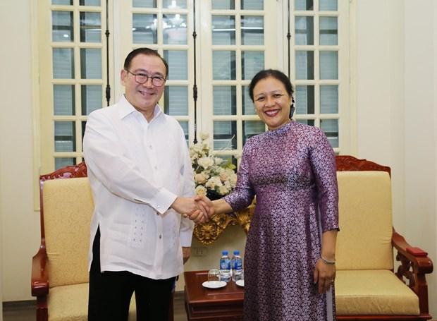 越南与菲律宾推动两国民间友好交流 hinh anh 1