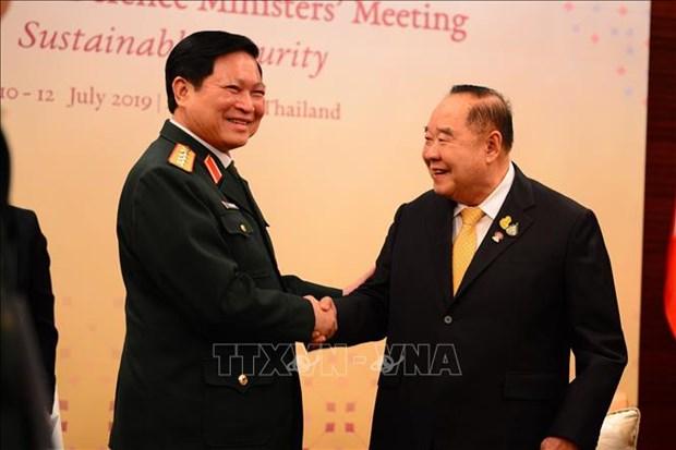 东盟国防部长会议在泰国召开 hinh anh 1