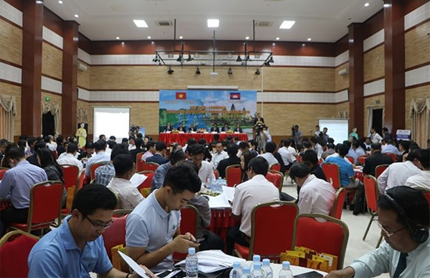 2019年越柬贸易投资促进论坛在柬埔寨首都金边举行 hinh anh 1