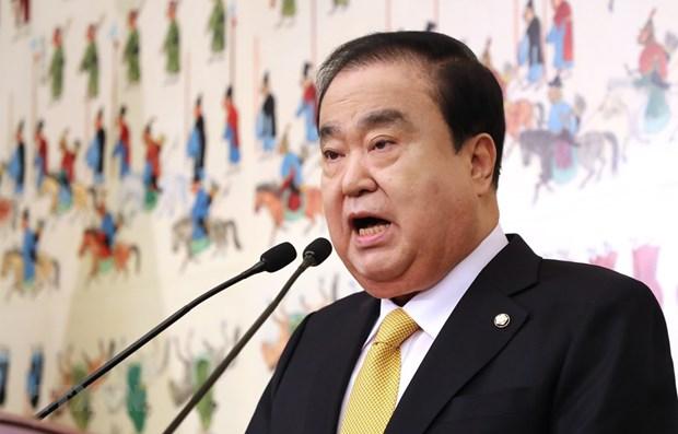 韩国国会议长:坚决杜绝韩国男子暴打其越南妻子事件再次发生 hinh anh 1