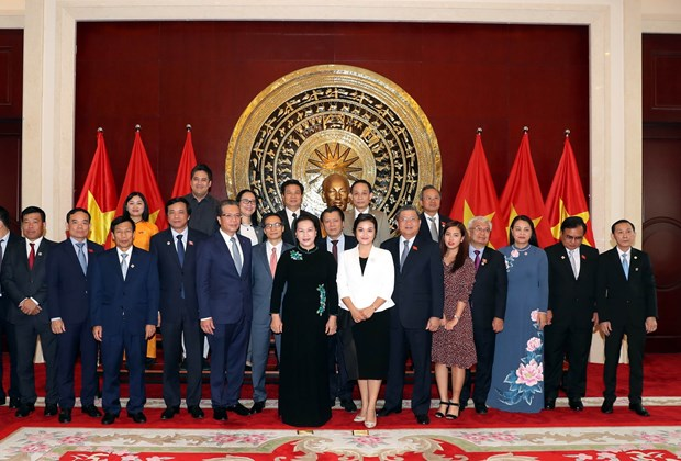 阮氏金银访华:造访越南驻华大使馆 hinh anh 2