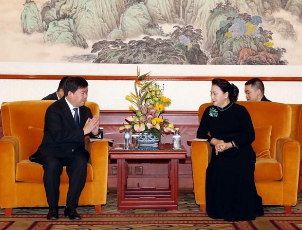 阮氏金银访华:造访越南驻华大使馆 hinh anh 3