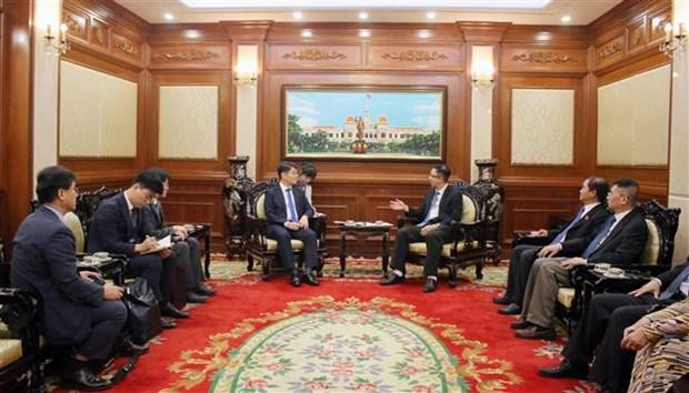 胡志明市领导会见韩国国会副秘书长 hinh anh 1