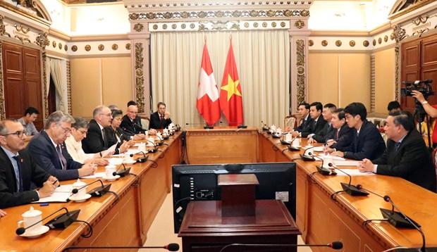 瑞士努力加快越南与欧盟自由贸易联盟自贸协定谈判进程 hinh anh 1