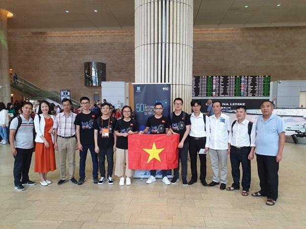 2019年国际物理学奥林匹克竞赛:越南学生夺得三金两银 hinh anh 1