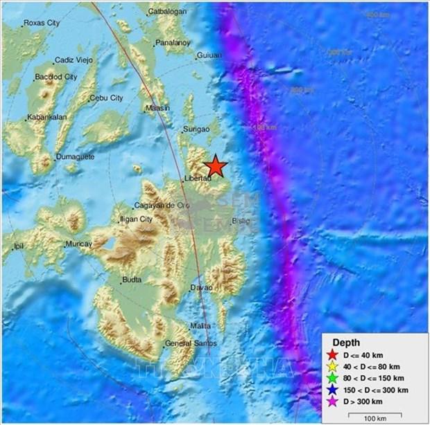菲律宾南部发生5.8级地震 造成多人受伤 hinh anh 1
