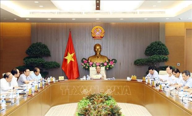 越南政府常务委员会召开会议 阮春福总理主持并讲话 hinh anh 1
