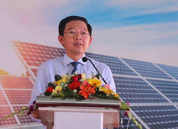 平定省吉协太阳能发电厂结束试运行 正式投入运营 hinh anh 2