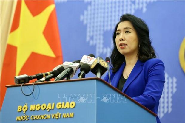 越南外交部发言人回答国内外记者关于东海最近情况的提问 hinh anh 1