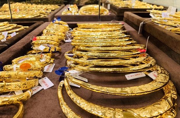 7月16日黄金价格保持在3900万越盾以上 hinh anh 1