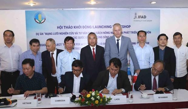 大湄公河次区域农业政策研究咨询网络正式启动 hinh anh 2