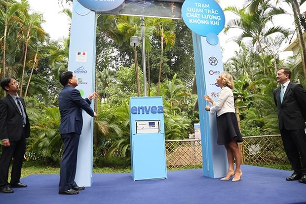 河内市将大幅增设数十台空气质量监测站 hinh anh 1