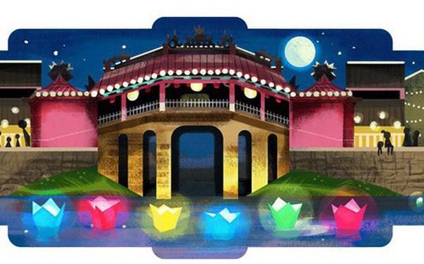 """越南广南省会安市的灯笼节""""点亮""""谷歌主页 hinh anh 1"""