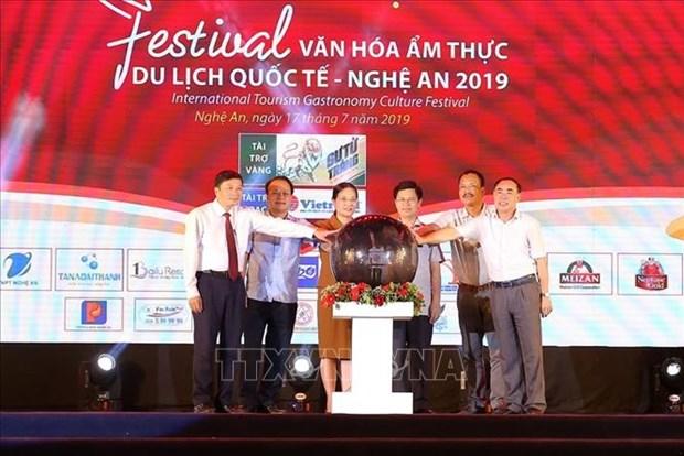 2019年乂安国际旅游饮食文化节开幕 hinh anh 1