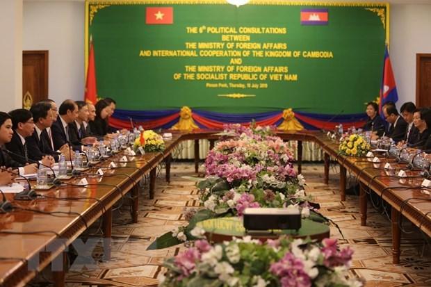 越南与柬埔寨两国外交部第六次政治磋商在金边举行 hinh anh 1