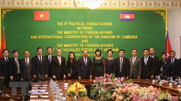 越南与柬埔寨两国外交部第六次政治磋商在金边举行 hinh anh 2
