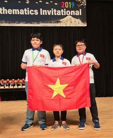 参加世界数学邀请赛的所有越南学生都获奖 hinh anh 2