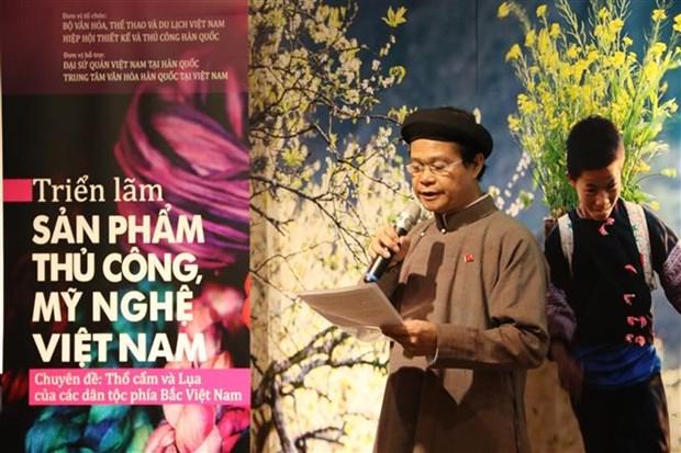 越南土锦与丝绸展览会在韩国举行 hinh anh 2