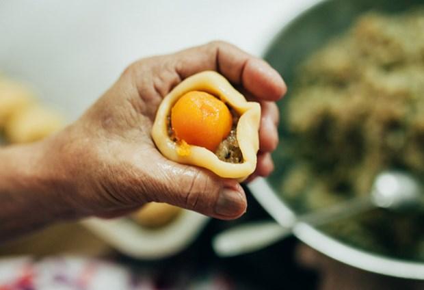 朔庄省的传统榴莲饼制作业 hinh anh 1