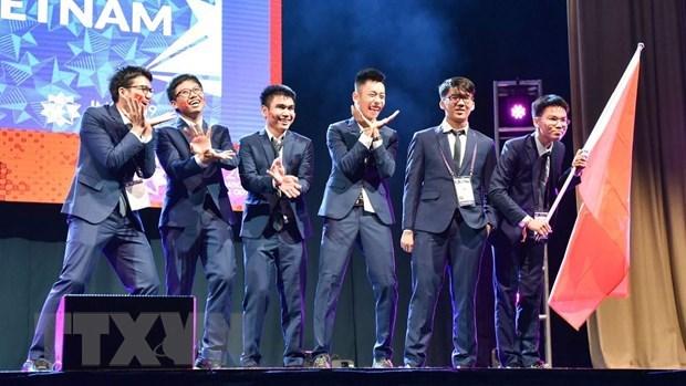越南学生代表团在2019年国际数学奥林匹克竞赛荣获两枚金牌 hinh anh 1