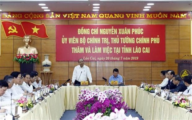 阮春福总理:老街省应努力跻身越南省份15强名单 hinh anh 1